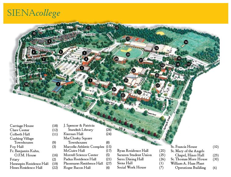 siena college campus map 4cr Directions And Parking Instructions siena college campus map
